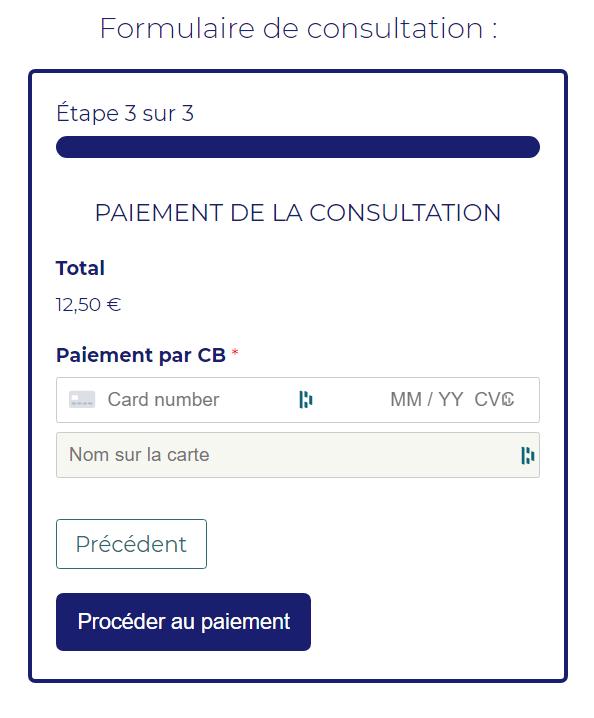 Formulaire paiement WPforms